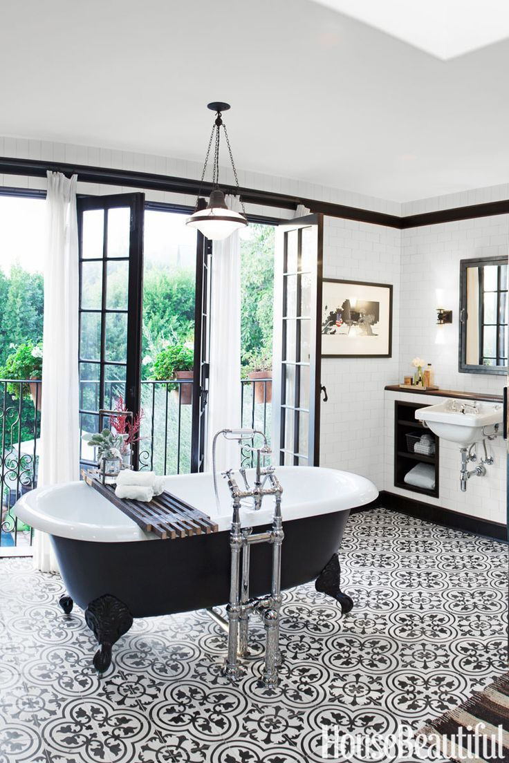 Black + White Tiled Floors | Life on Shady Lane