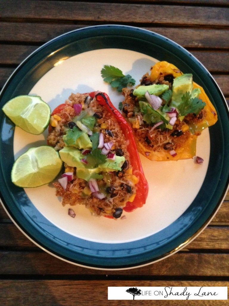 Mexican Quinoa Stuffed Peppers 1