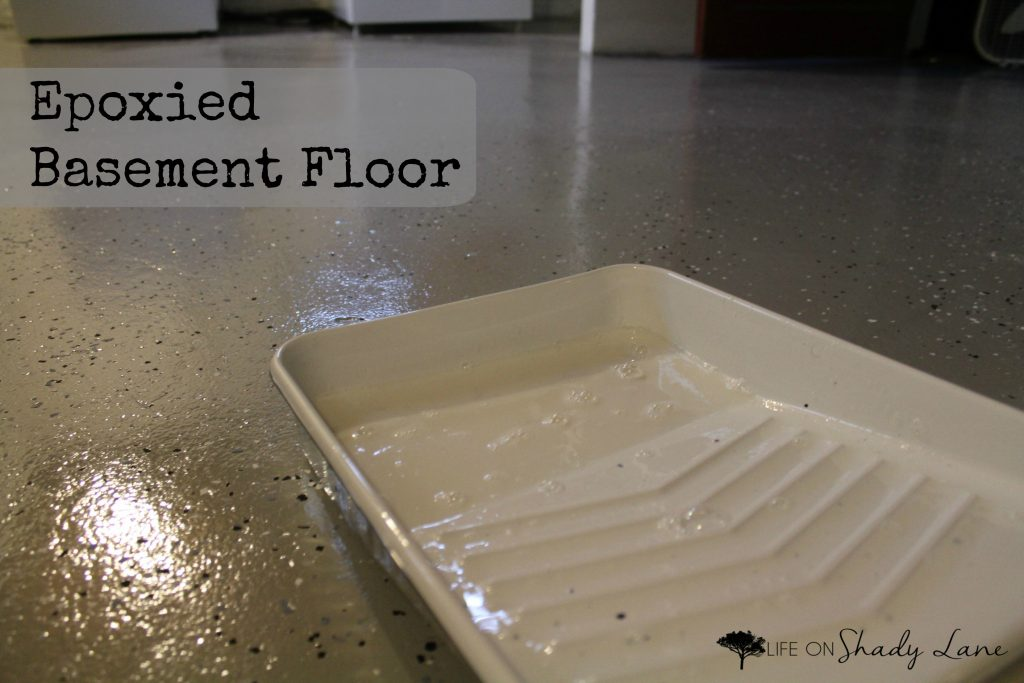 Epoxied basement floor