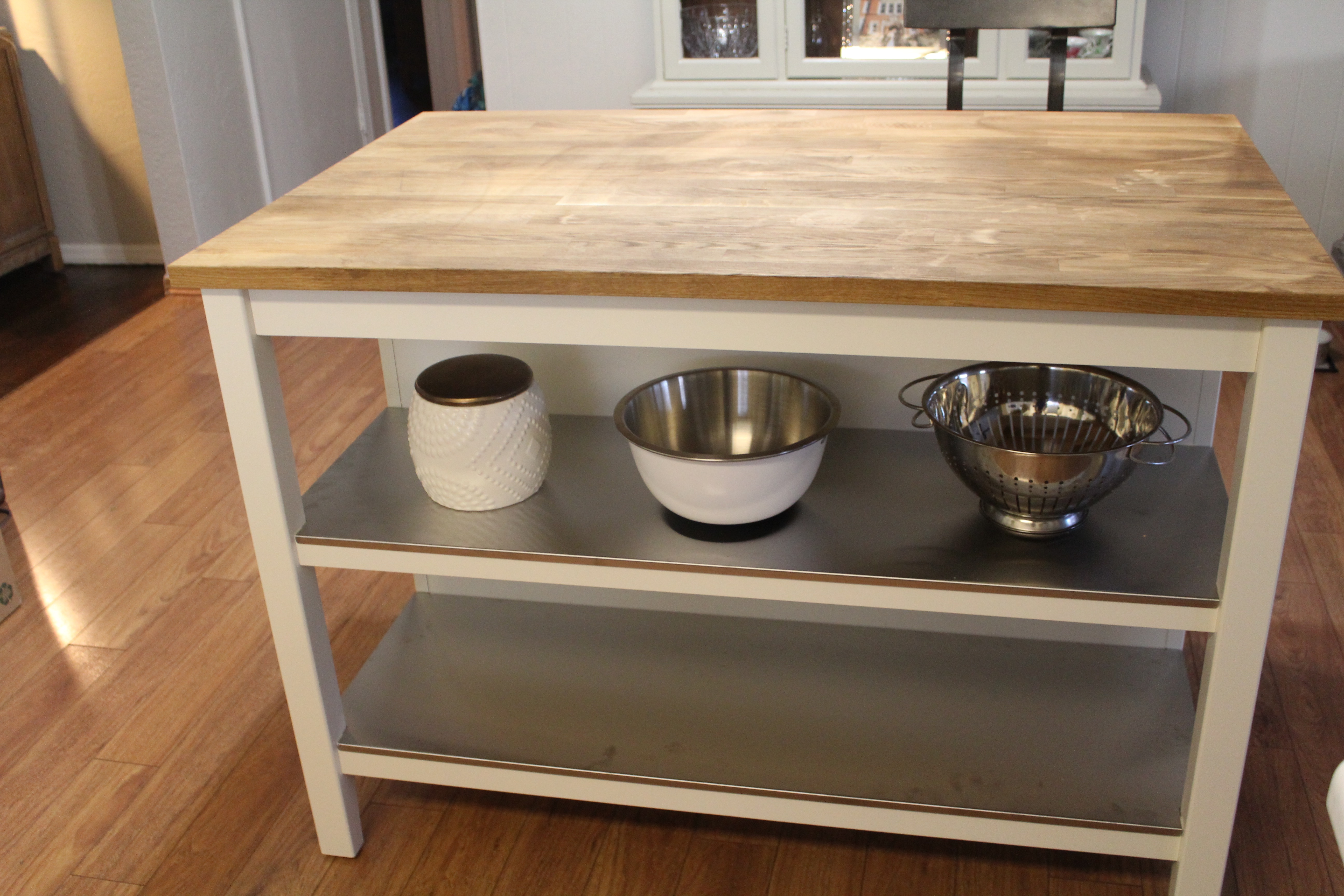 How to Repair a Stained Butcher Block Island