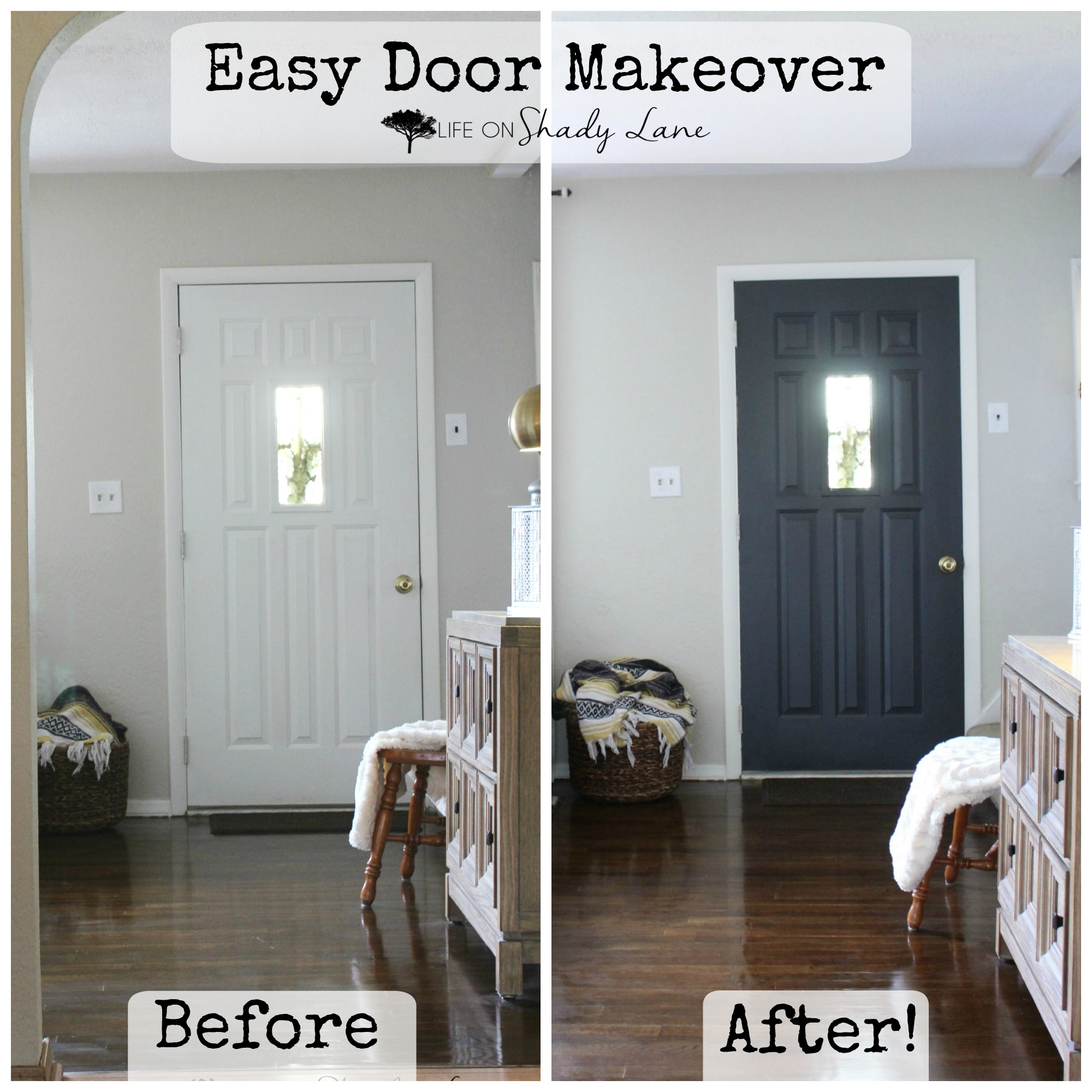 A Modern Farmhouse Door Makeover