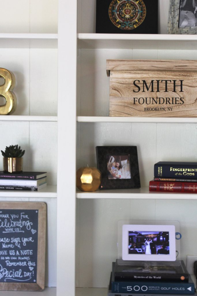 Life on Shady Lane, styled bookshelves
