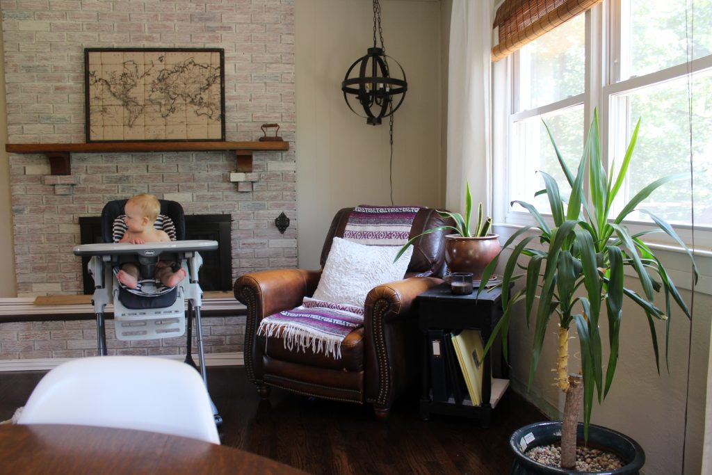 Hardwoods + Painted Ceilings - via Life on Shady Lane blog