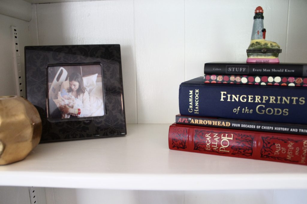Bookshelf Decor - via Life on Shady Lane blog