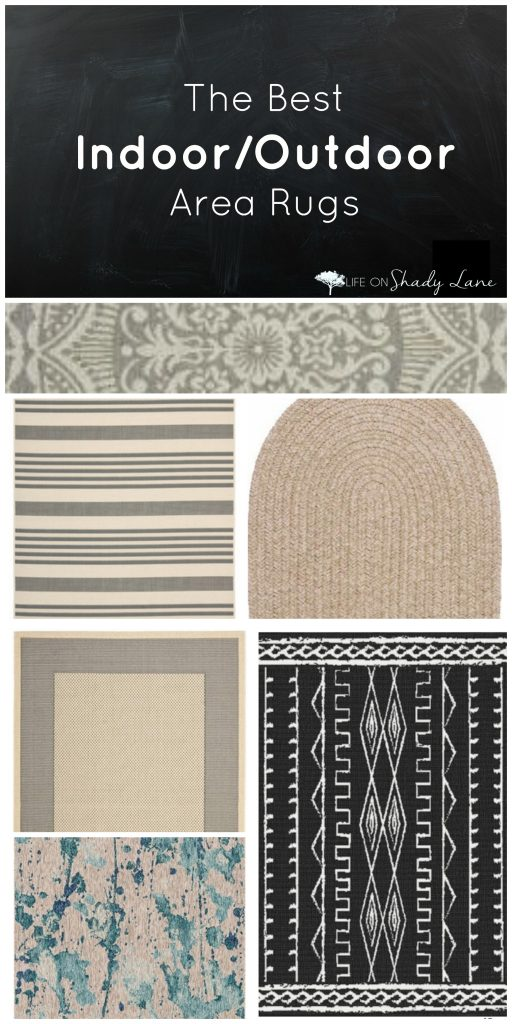 The Best Indoor/Outdoor Area Rugs via Life on Shady Lane Blog