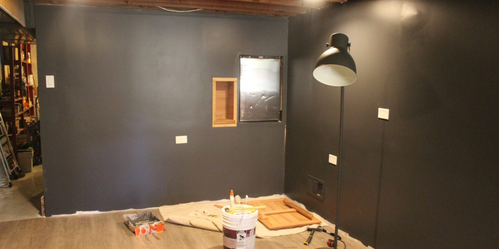 Basement Remodel update: painted drywall and flooring ...