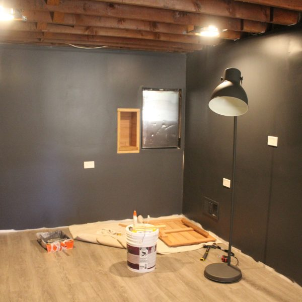 Basement Remodel: Painted Drywall and Flooring!
