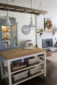 Antique Ladder and Pendant Lights