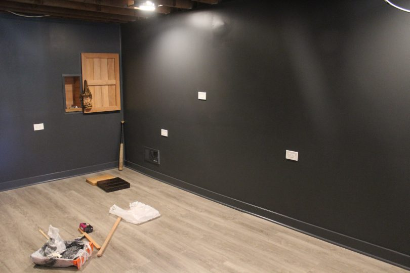 Basement Remodel: We have baseboards and a fridge door!