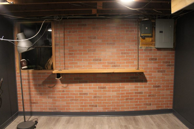 DIY Hanging Bar, Basement Remodel