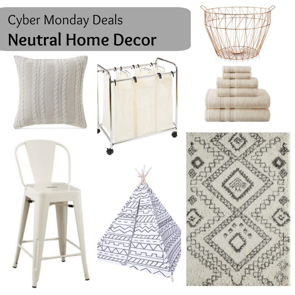 Cyber Monday - Neutral Home Decor via Life on Shady Lane blog