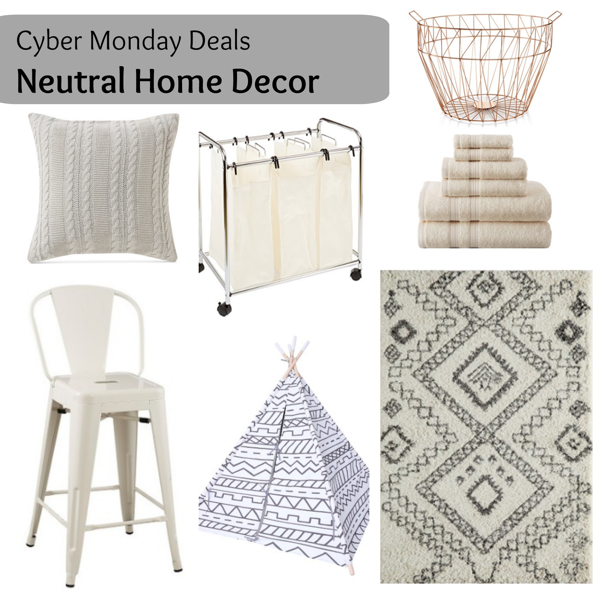 Cyber Monday Neutral Home Decor Via Life On Shady Lane Blog