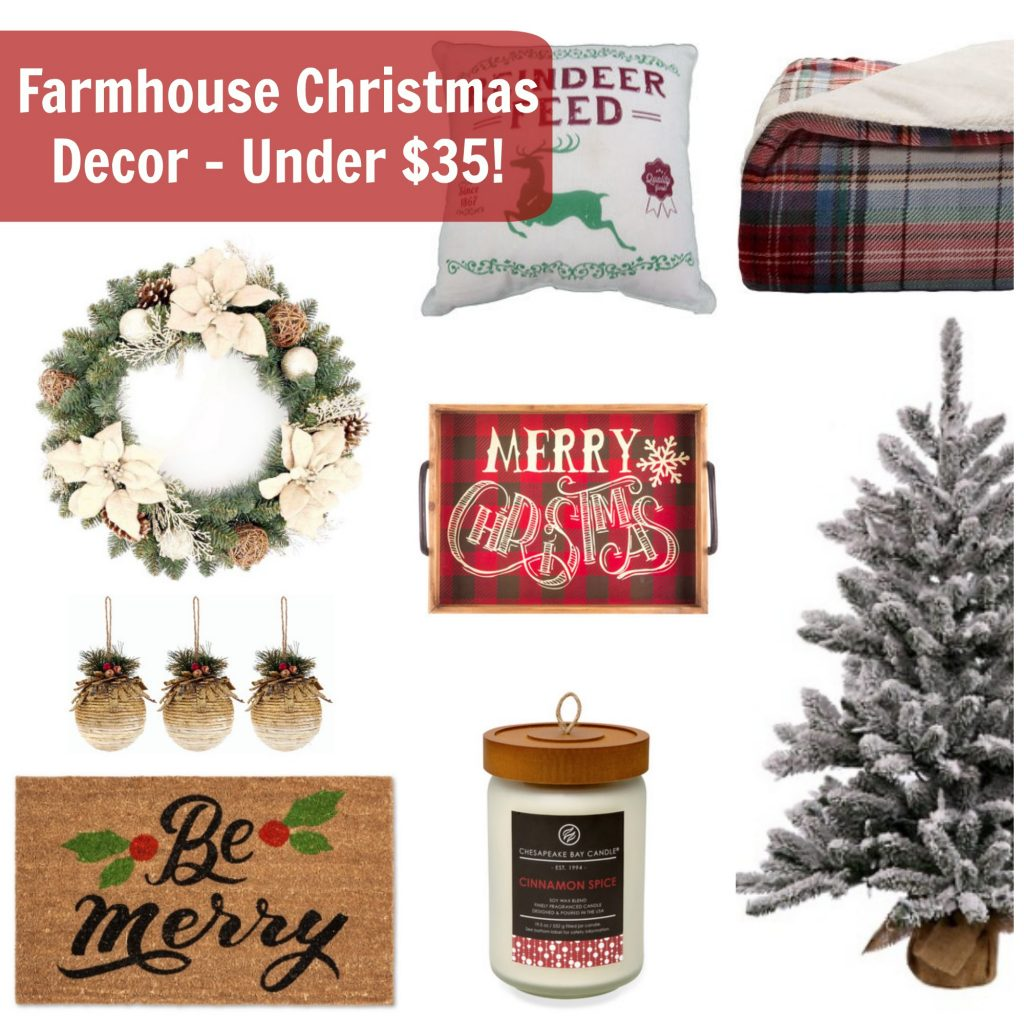Affordable Farmhouse Christmas Decor via Life on Shady Lane blog