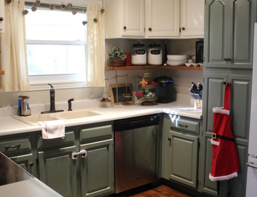 Christmas Kitchen via Life on Shady Lane