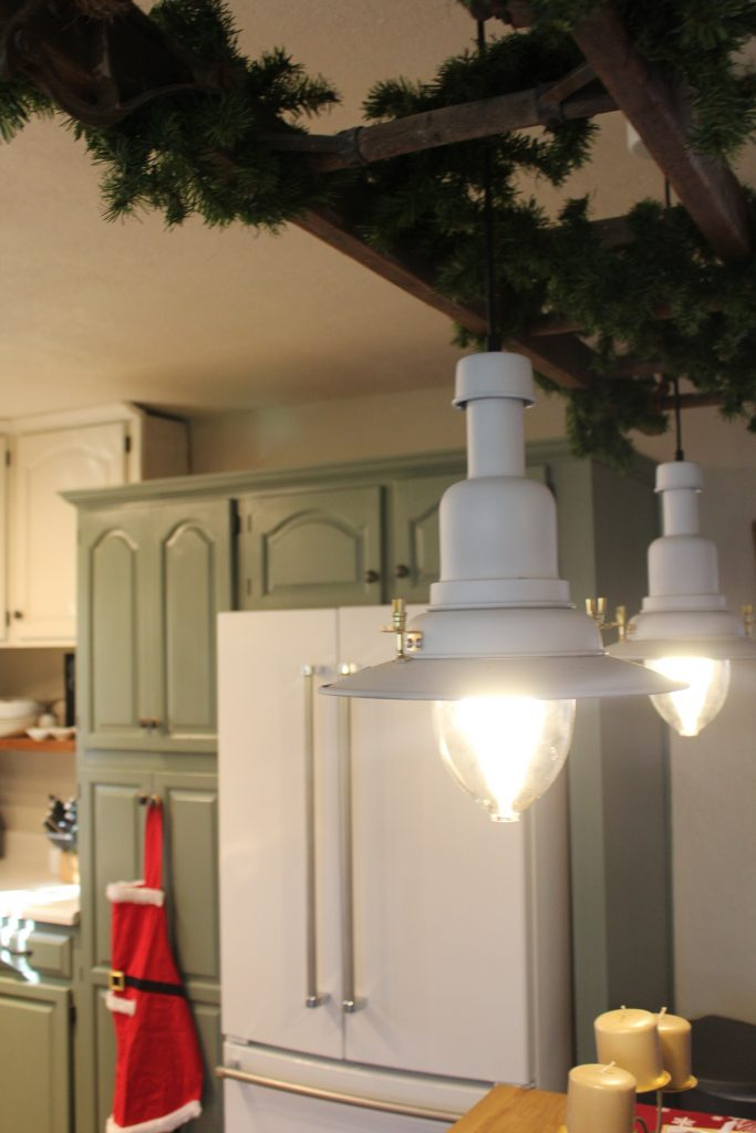 A Traditional Farmhouse Christmas Kitchen via Life on Shady Lane