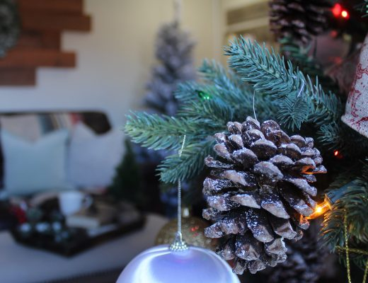DIY pinecone ornaments via Life on Shady Lane blog