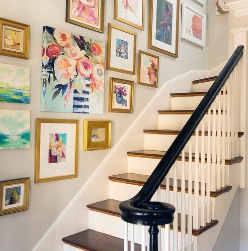 Decorating A Staircase Ideas Inspiration: Staircase Gallery Wall Inspiration
