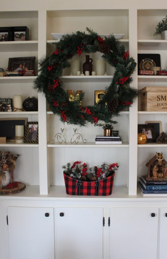 Modern Farmhouse Christmas Dining + Hearth Room via Life on Shady Lane blog