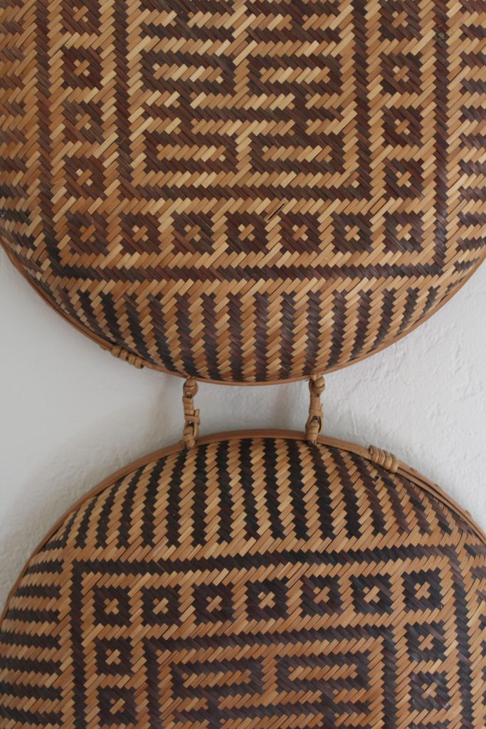 Geometric Basket turned Wall Art via Life on Shady Lane blog