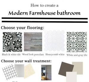 How to create a Modern Farmhouse Bathroom via Life on Shady Lane blog