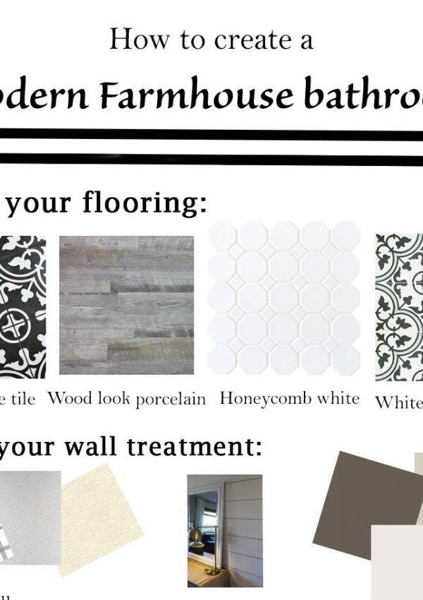 How to Create a Modern Farmhouse Bathroom