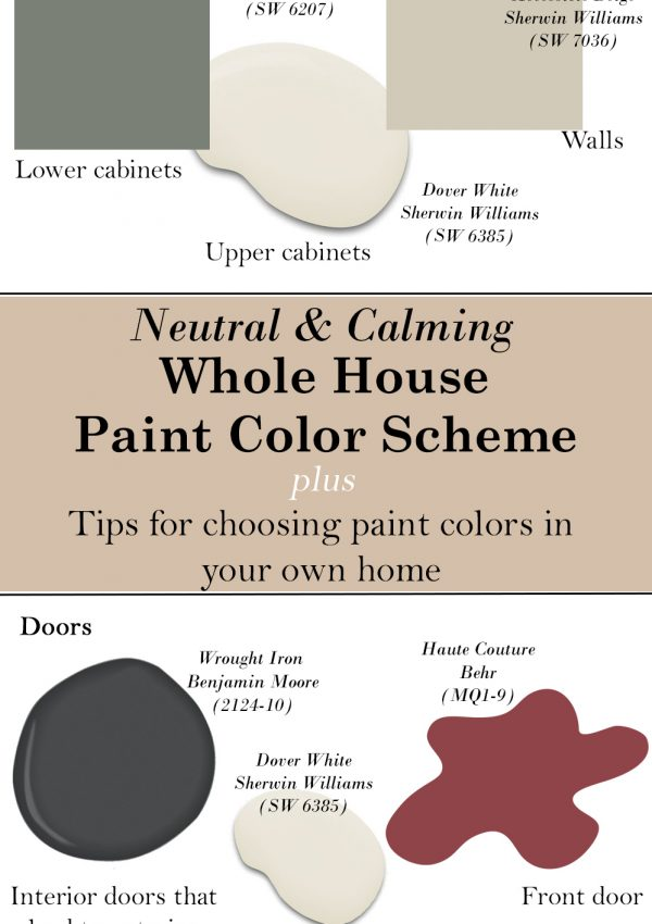 The paint colors we used in our home + my tips on picking colors for your own home