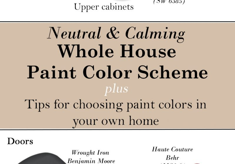 The Paint Colors We Used In Our Home My Tips On Picking For Your Own Life Shady Lane