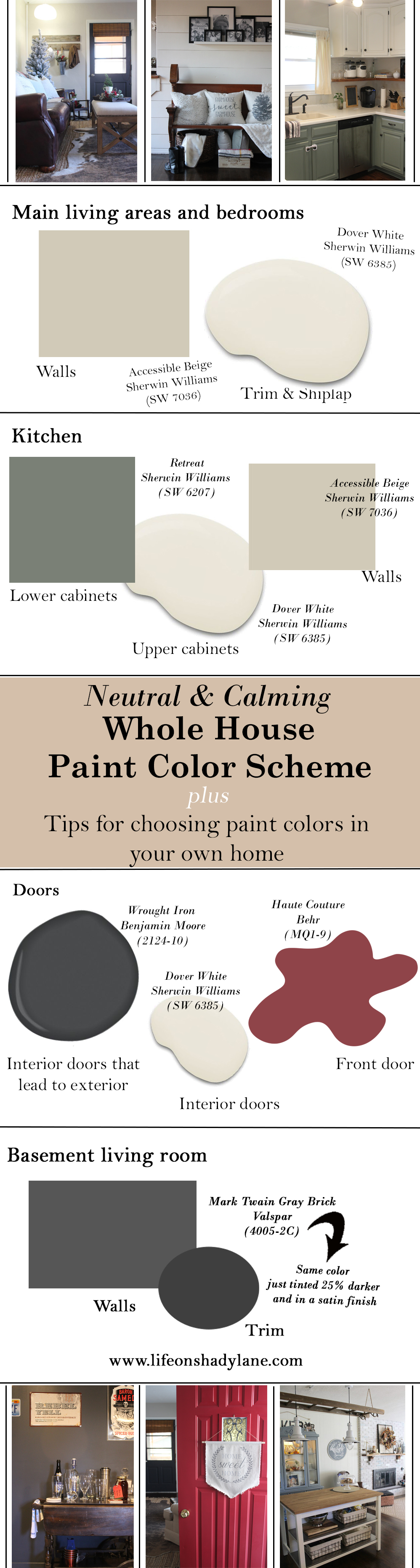 the paint colors we used in our home my tips on picking colors for your own home life on. Black Bedroom Furniture Sets. Home Design Ideas