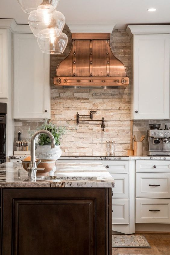 The Best Farmhouse Range Hoods via Life on Shady Lane blog #rangehoods #kitchen