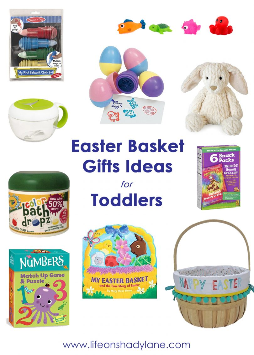 Easter Basket Gift Ideas for Toddlers via Life on Shady Lane blog