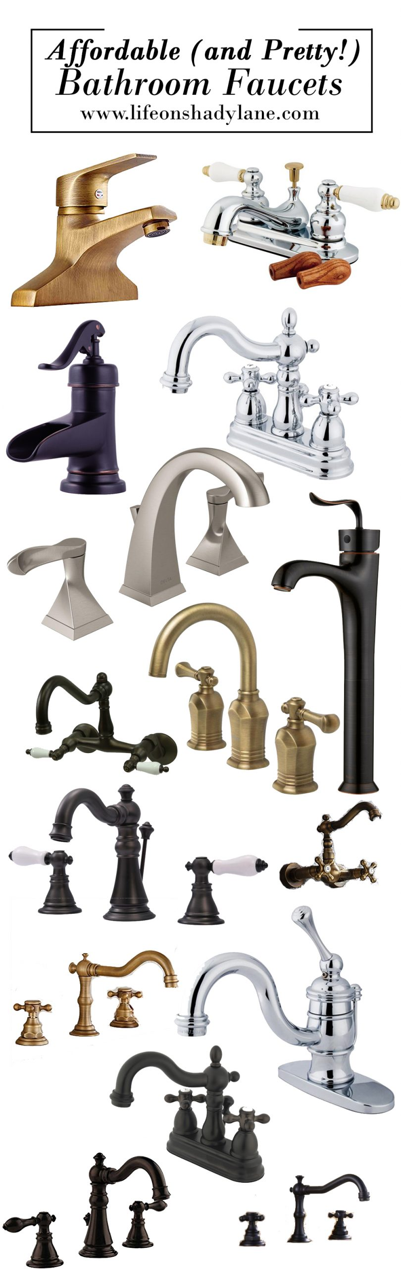 Affordable and Pretty Bathroom Faucets via Life on Shady Lane blog