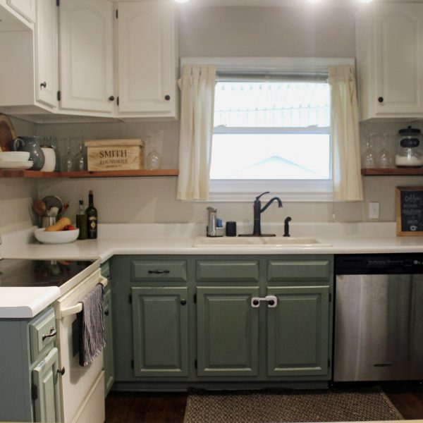 Then and Now: The Kitchen via Life on Shady Lane blog
