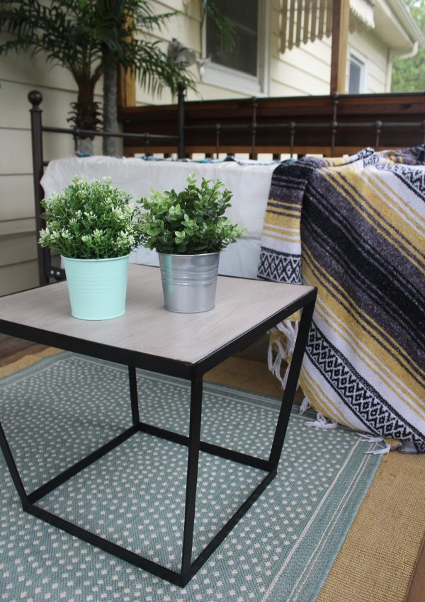 A New Rug and Table for our Porch