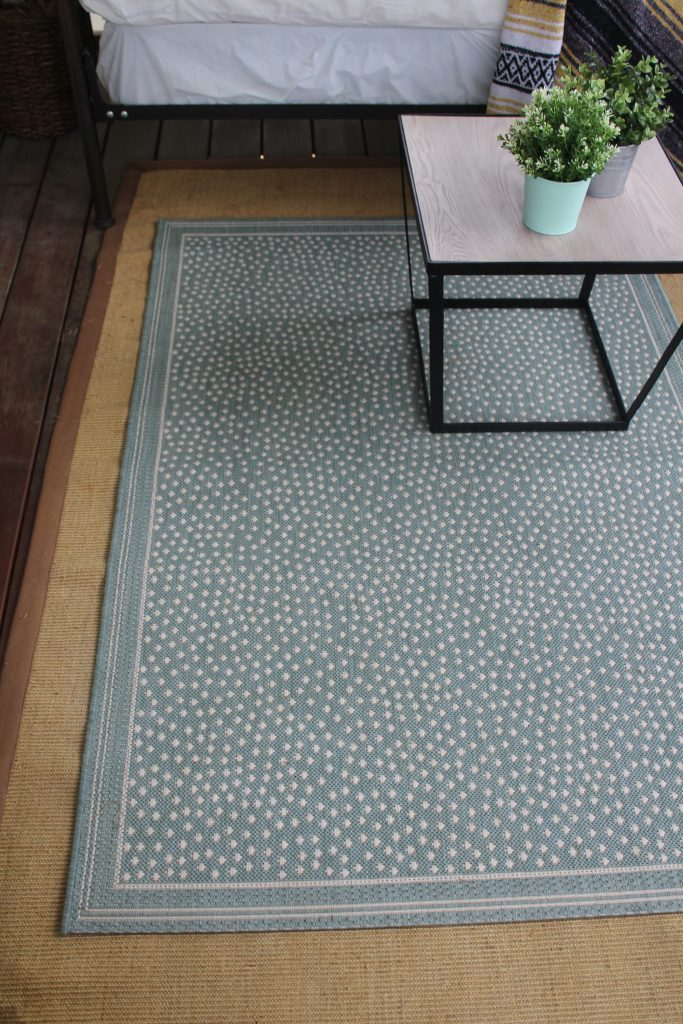 A New Rug and Table for our Porch via Life on Shady Lane blog