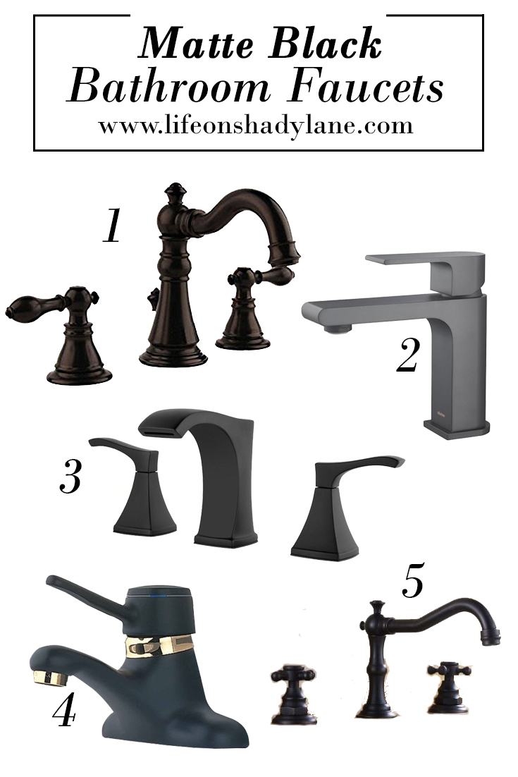Matte Black Bathroom Faucets - Affordable and Pretty!