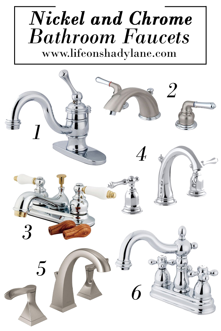 Nickel and Chrome Bathroom Faucets - Affordable and Pretty!