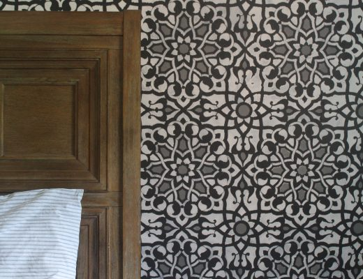 Master Bedroom Progress: Stenciled Wall