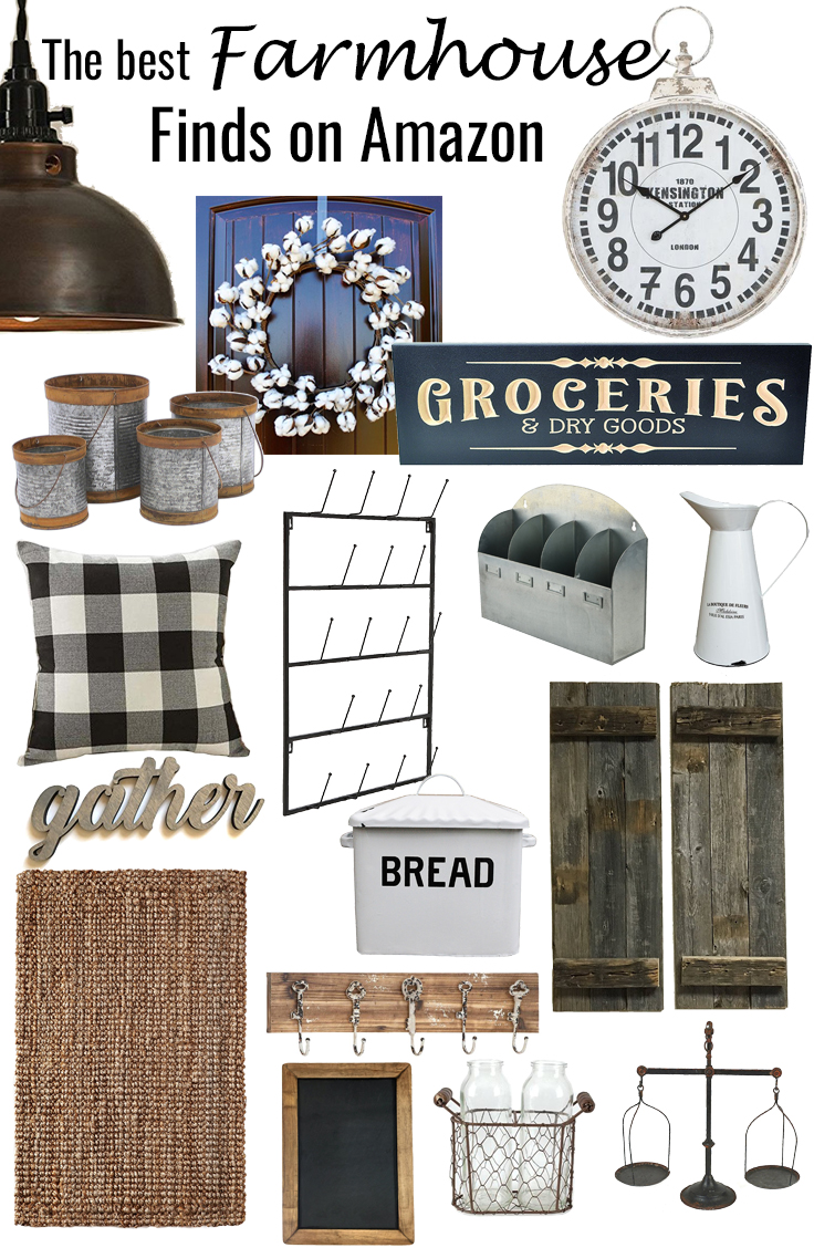 The best farmhouse finds on Amazon || Kansas City life, home, and style blogger Megan Wilson shares a roundup of her favorite farmhouse finds available on Amazon. Refresh your home with some cute farmhouse style!