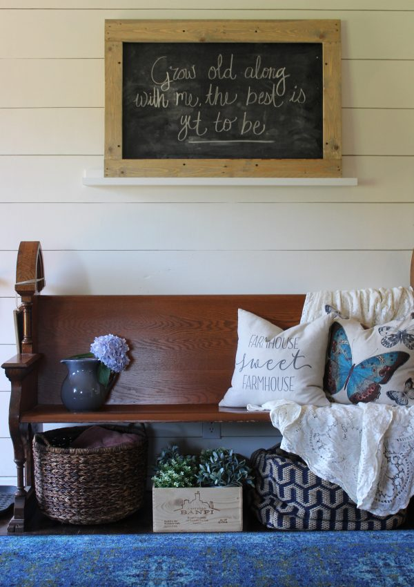 Pallet Wood Framed Chalkboard