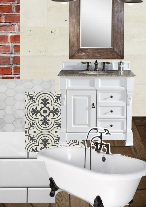 Vintage Modern Farmhouse Bathroom Plan