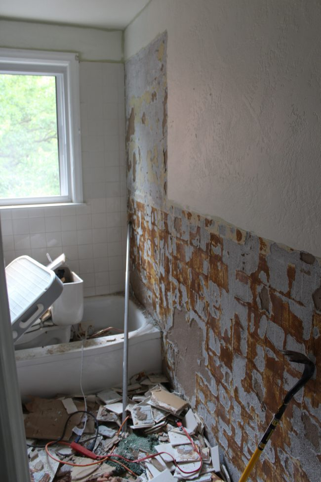 Upstairs Bathroom: Demo Day