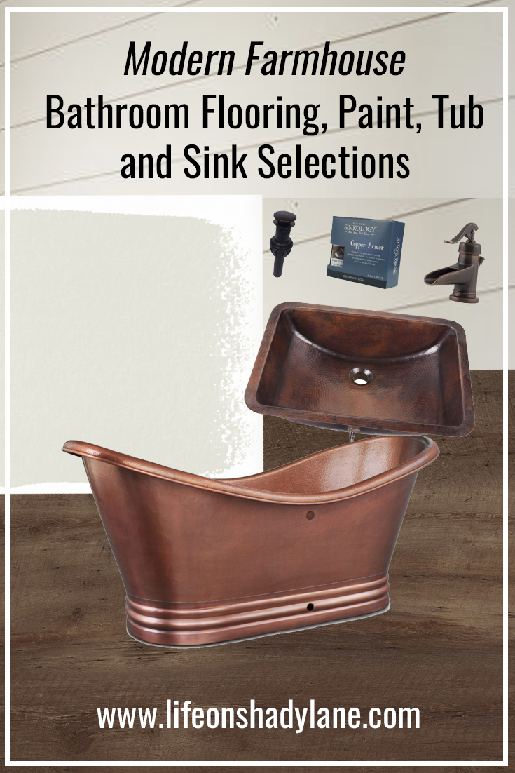 Upstairs Bathroom Flooring, Paint, Tub and Sink Selections