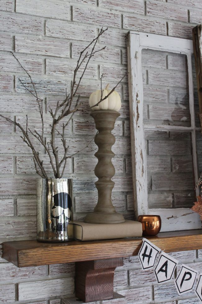 Halloween Mantel with Copper Accents