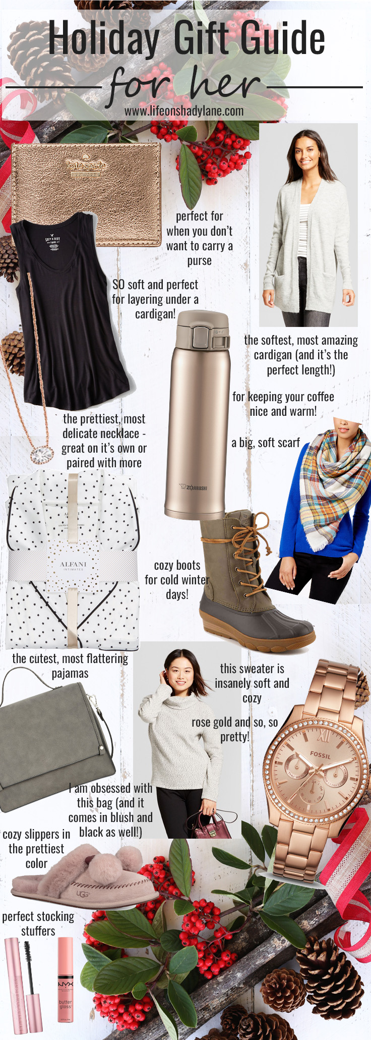 The ultimate holiday gift guide - for her // Perfect Christmas gifts for all of the women in your life!