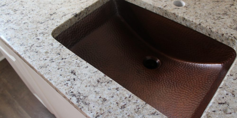 Copper Sink And Granite Countertops A