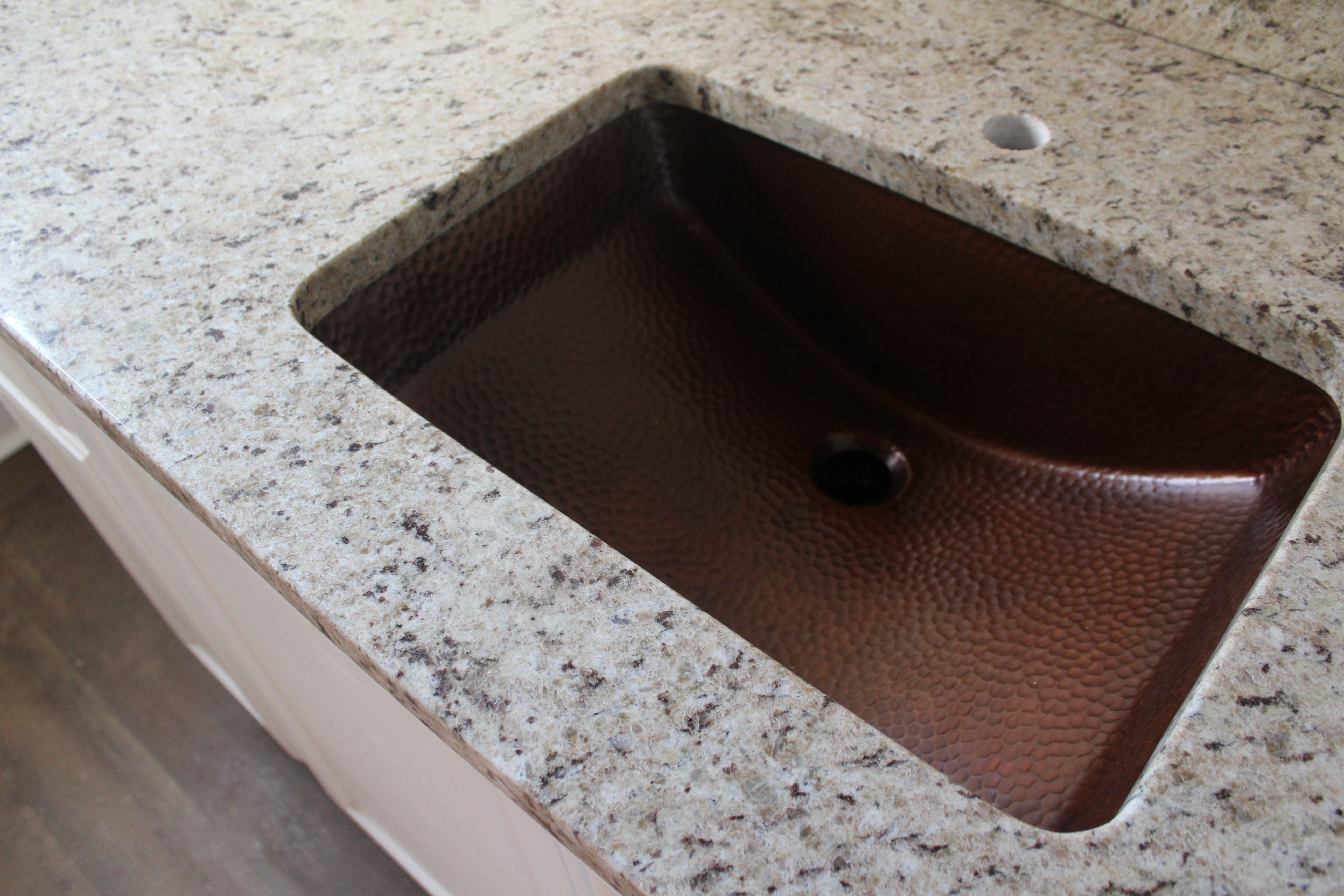 Upstairs Bathroom Countertops And A Copper Sink Life On