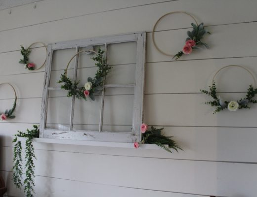 DIY Floral Hoop Wall - quick and easy Spring decorating that makes a big statement!