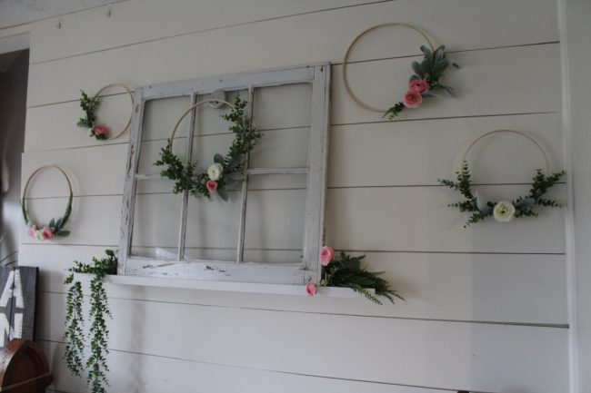 DIY Floral Hoop Wall - quick and easy Spring decorating that makes a big statement! | Kansas City life, home, and style blogger Megan Wilson shares a simple spring DIY project