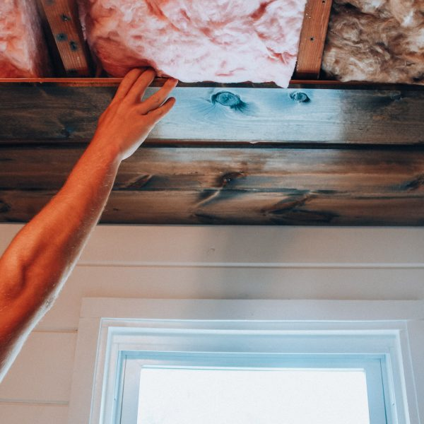 DIY wood plank wall - how to easily install a shiplap ceiling in your home