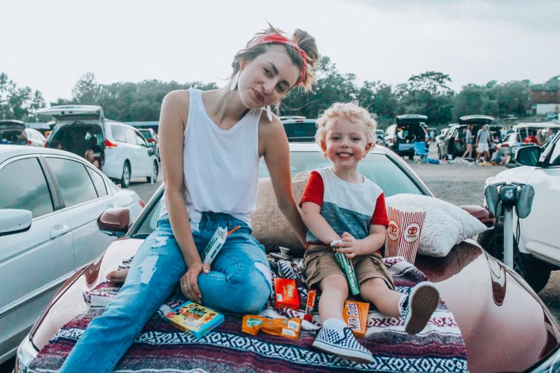 A Drive-In Movie night with Toyota; fun summer activities to do with kids
